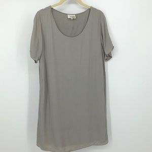 Wilfred Free solid grey tee shirt dress medium